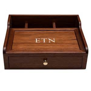desk box dresser box mens valet desk organizer walnut wood custom it