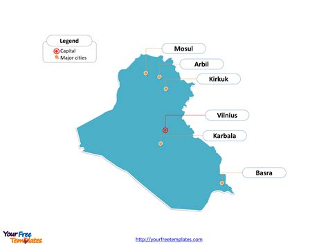 Free Iraq Editable Map Free Powerpoint Templates