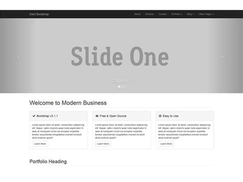 bootstrap starter template modern business bootstrap 3 website starter template