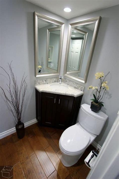 corner bathroom sink ideas for powder room traditional powder room with