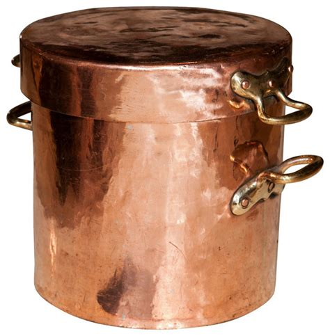 large copper pot  lid  castellated joints traditional specialty cookware  stdibs