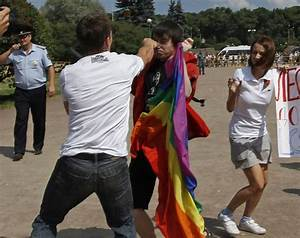 Gay Rights Activists Clash With Homophobic Protesters in ...