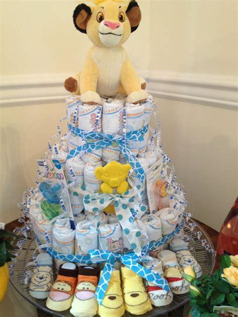 diaper cakes diapers  lion  pinterest
