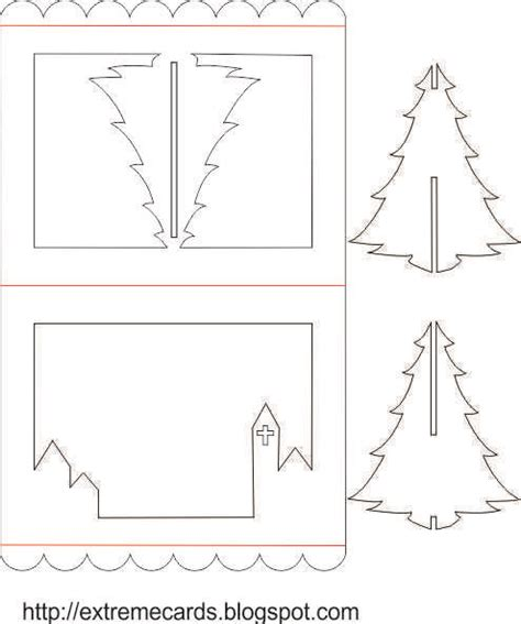 extreme cards and papercrafting 3d christmas tree pop up