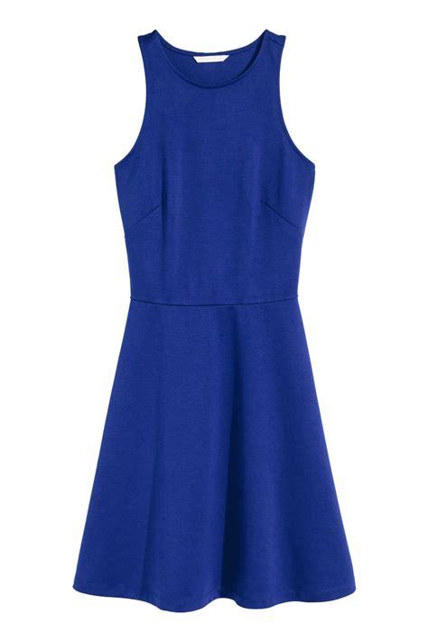 front screen sleeveless dress cornflower blue sale h m us