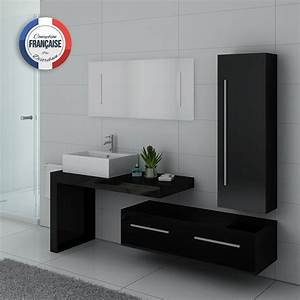 Colonne Salle De Bain Noir : meuble salle de bain ref dis9250n ~ Teatrodelosmanantiales.com Idées de Décoration