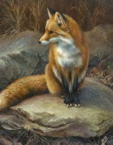 Joni Johnson Godsy Fox Painting