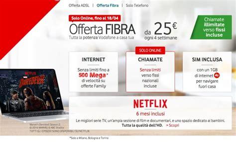 Vodafone Fibra 500 Mbps Ma Anche 100 Mbps Per Tutte Le