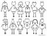 Coloring Printable Robot Babbles Dabbles sketch template