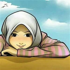 7 Gambar Kartun Muslimah Senyum Lucu Gambar Animasi GIF
