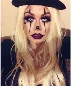 Diy sexy/creepy clown makeup Halloween stuff Pinterest