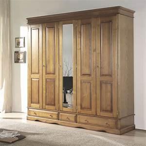 Armoire Chambre Bois Maison Design