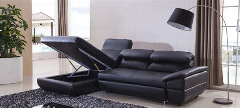 canap d angle noir convertible canapé d 39 angle gauche convertible cuir noir mezzio
