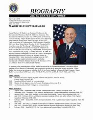 Military Bio Example Personal Biography