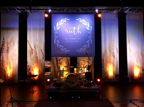 field strips church stage design ideas