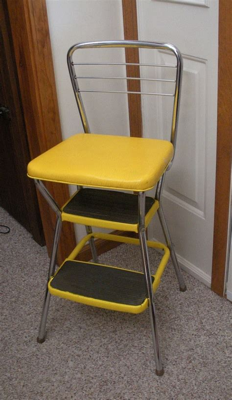 Cosco Step Stool Chair Vintage by Vintage Cosco Yellow Kitchen Step Stool Chair