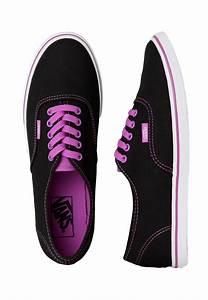 Vans - Authentic Lo Pro Neon Black/Purple - Girl Shoes ...