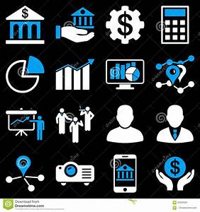 Banking Business And Presentation Symbols Stock Vector
