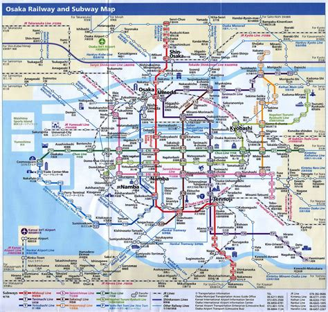osaka subway chawin subway map japan travel osaka