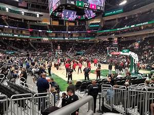 Fiserv Forum Seating Chart With Seat Numbers Section 114 At Fiserv Forum Milwaukee Bucks