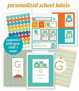 personalized back to school organizing labels worldlabel With free customizable printable labels