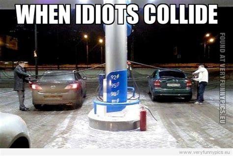 idiots collide funny