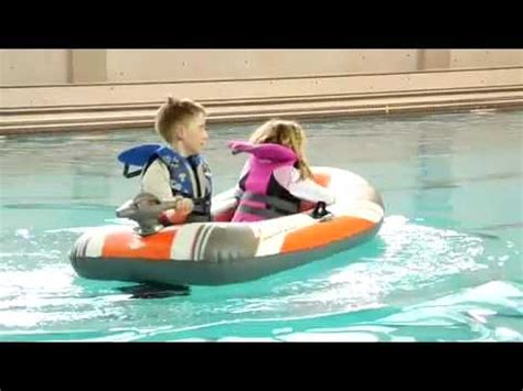 Kids Boat Lewis by Motorized Kid S Inflatable Boat Youtube