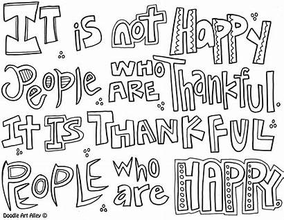 Coloring Quotes Thankful Quote Doodle Alley Seuss