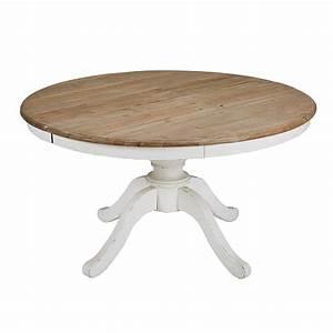 Tables Rondes Extensibles : table manger ronde extensible 6 8 personnes l140 190 provence maisons du monde ~ Teatrodelosmanantiales.com Idées de Décoration