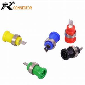 1pc Banana Plugs Black Red Blue Yellow Green Banana Female Jack Binding Post Wire Connector Mix