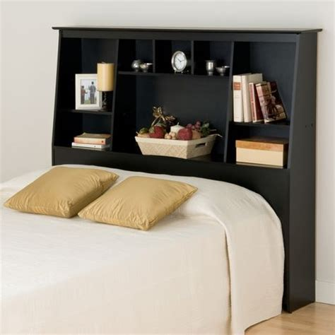 prepac full and queen tall slant back bookcase headboard