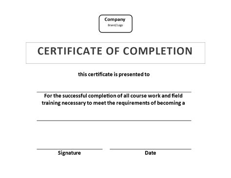 certificate  training completion  templates