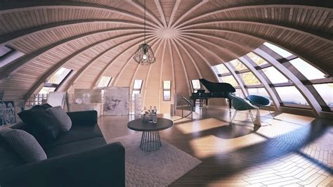 skydome contemporary dome houses  russia