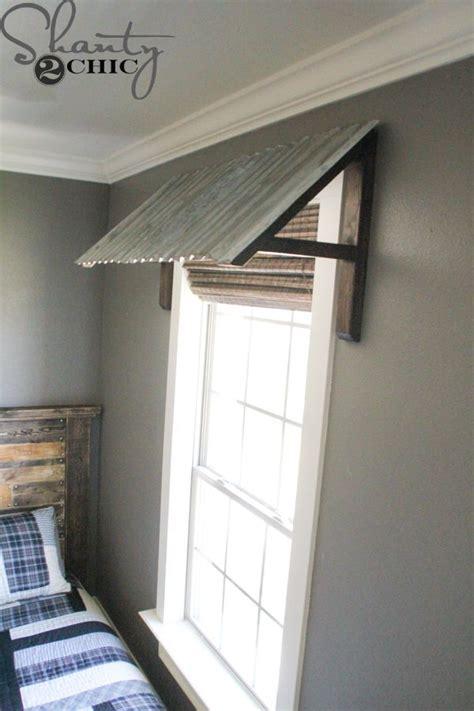 diy corrugated metal awning shanty  chic wood valance