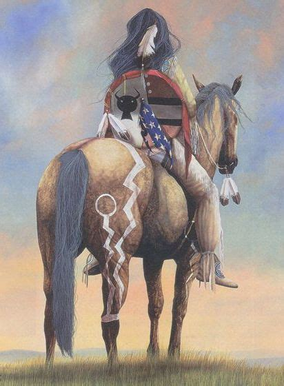 native indian american horses horse war indians paintings pony painted warrior painting paint ride artists tattoo americans spirit tattoos lupo
