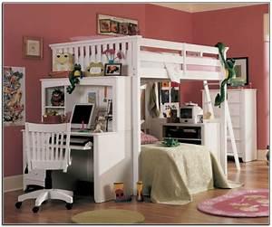Lit Fille Original : le lit mezzanine et bureau plus d 39 espace ~ Teatrodelosmanantiales.com Idées de Décoration