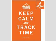 Keep Calm and Track Time Harvest