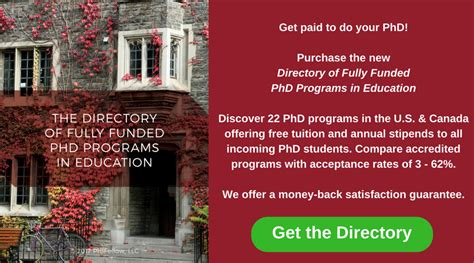 fully funded phd programs  education profellow