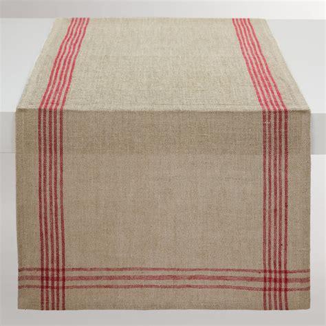 world market table linens red stripe linen table runner world market