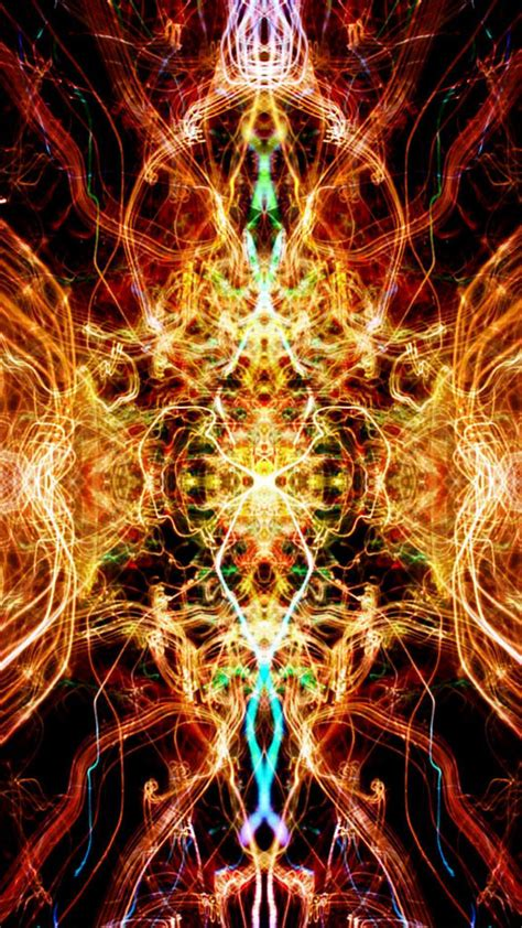 flame kaleidoscope fire abstract android wallpaper