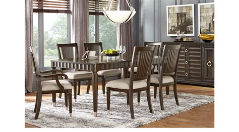 Michigan Avenue Brown 5 Pc Rectangle Diningroom Contemporary