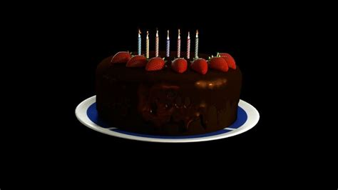 3d Happy Birthday Photo by A 3d Model Of A Cake Happy Birthday Cgtrader