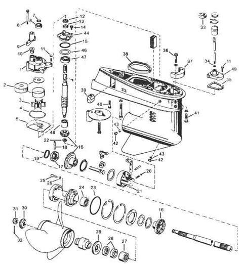 Boat Parts Johnson by Evinrude Johnson Outboard Parts Drawings Within Johnson