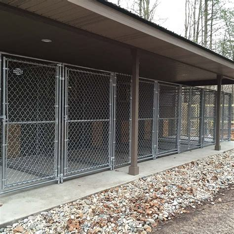 hoover fence chain link dog kennel panels medium grade