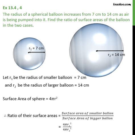 radius   spherical balloon increases