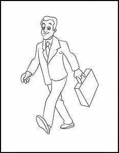 Business Man Walking Confidently Coloring Pages | Best ...