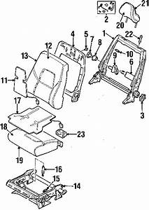 1999 Volvo S80 T6  6 Cyl 2 8l B6284t  Front Seat Components