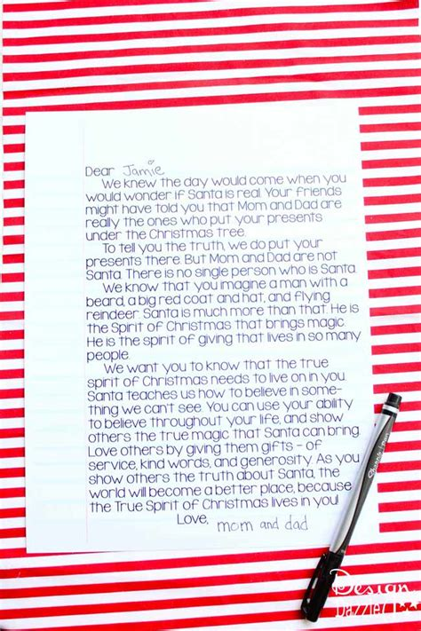 letter to child about santa a letter to santa is real design dazzle 28277