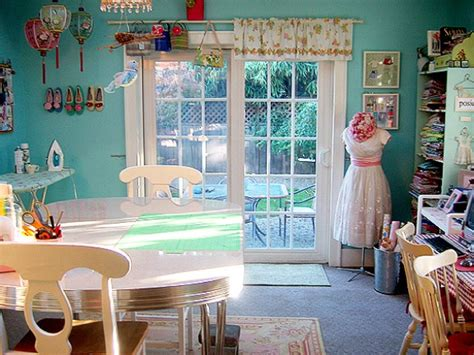 creative sewing room concept that comfy and organized