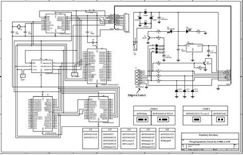 ponyprog circuit  atmels avr electronics lab